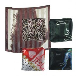 96 of 38in X 36in Silk Scarf Assorted Design And Colors