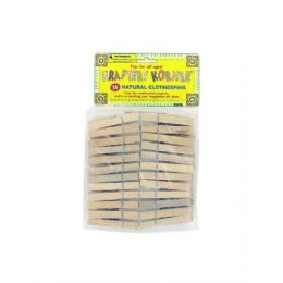 72 of 36 Pack Natural Wood Craft Clothespins