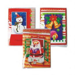 96 of Christmas Card Spanish Musical Card W / Light Assorted Designs Counter Display