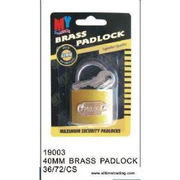 72 of 40mm Brass Padlock