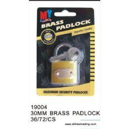 72 of 30mm Brass Padlock