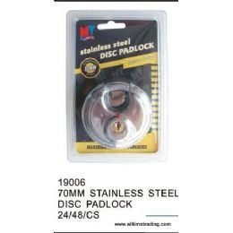 48 of 70mm Stainless Steel Disc Padlock