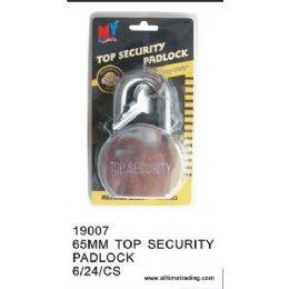 24 of 65mm Top Security Padlock