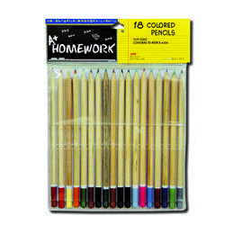 48 of Colored Pencils - 18 Pk - Natural Barrel - Asst. Cls.