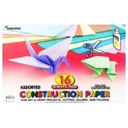 36 of Construction Paper Pad - 16 Sh - 12 X 18 - Asst. Cls