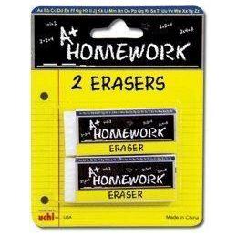 48 of Erasers -2 Pk - White - Rectangular - 2.5 Each