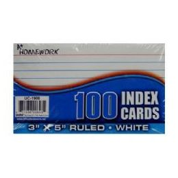 48 of Index Cards - Ruled - 3x 5 - 100ct - Poly Wrapped