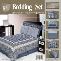 4 of 8 Piece Full Size Bedding In A Bag
