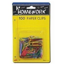 48 of Paper Clips - 100ct.-1.25 - Vinyl Asst.cls. - Carded