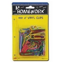 48 of Paper Clips - 100ct.-2 - Vinyl Asst.cls. - Carded