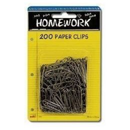 96 of Paper Clips - 200ct.- 1.25 - Silver Metal - Carded