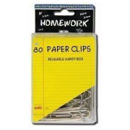 48 of Paper Clips - 80ct.- 2inch - Silver Metal -Plastic Boxed