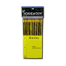 48 of Pencils - Hb - 12 Pk - Black BarreL- Hang Card