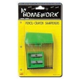 48 of Sharpeners - 2 Pk - Pencil + Crayon - Asst.cls.