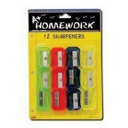 48 of Sharpeners - Pencil - 12 Pack - Asst. Colors