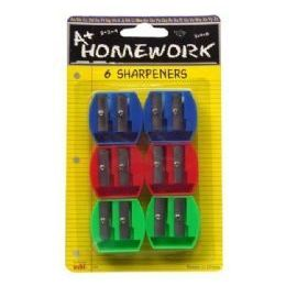 48 of Sharpeners - Pencil - 6 Pk.- Duel Blade - Asst. Cls.