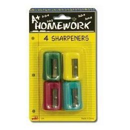 48 of Sharpeners - Pencil - Rectangular - 4 Pack