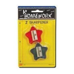 96 of Sharpeners - Pencil - Star Design - 2 Pack