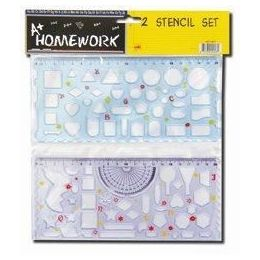 48 of 2 Pack Shapes And Geometric Shapes Stencils