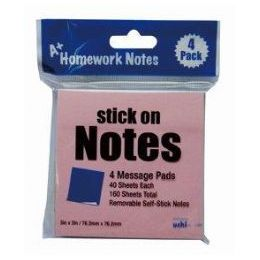 48 of Stick On Notes 3x3 4pk 40 Sheet Ea 160 Sheets Total, 4 Colors