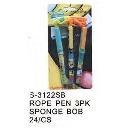 96 of Spongebob Pens On A Rope 3 Pack