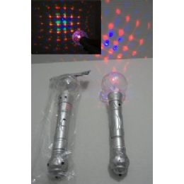 "96 of 10"" Light & Sound Disco Ball Wand"