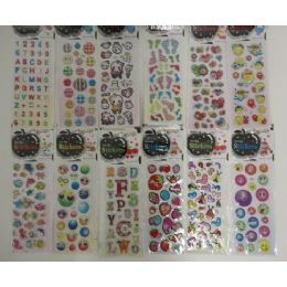 """144 of 3""""x6.25"""" Puffy Sticker Sheets"""