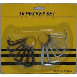 36 of 16pc Hex Key Set