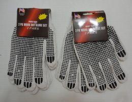 36 of 2pr White Beaded Work Gloves