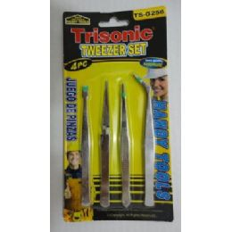 72 of 4pc Stainless Tweezer Set
