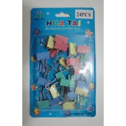 72 of 24pc Colored Binder Clips