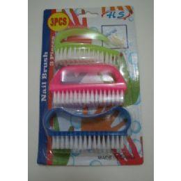 24 of 3pcs Plastic Nail Brush