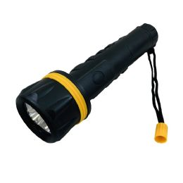 """48 of 9.75"""" 3 LED Flashlight [Black with Yellow Accent]"""