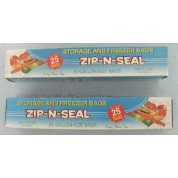 72 of 25pc Zip N Seal Gallon Bags