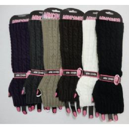 120 of Arm WarmerS-Solid Color Knit