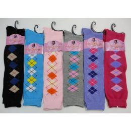 12 of Ladies KneE-High Argyle Socks 9-11