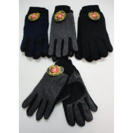 72 of Men's Cuffed Gloves With Suede Palm (two Tone)