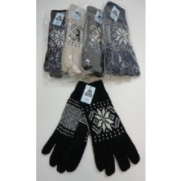 144 of Men's Thermal Insulate GloveS--Snowflakes
