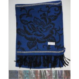 60 of Pashmina With FringE-Metallic Roses