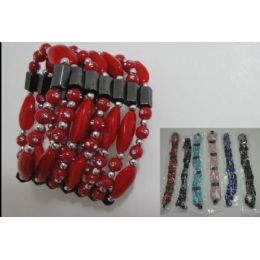 180 of 36 Inch Magnetic NecklacE-Large Rock Beads Bracelet