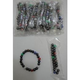 "72 of 7"" Magnetic BraceleT-Round Sparkle Beads"