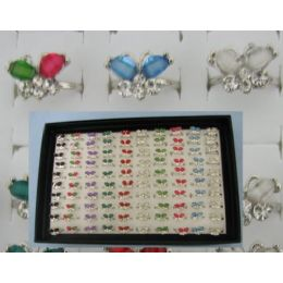 300 of Adjustable RinG-2 Wing Butterfly With 4 Stones