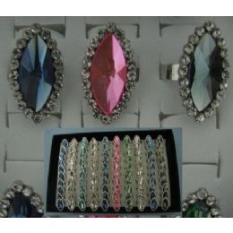 100 of Adjustable RinG-Almond Shaped With 20 Stones