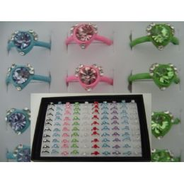 200 of Adjustable RinG-Heart Shaped With 7 StoneS-Small