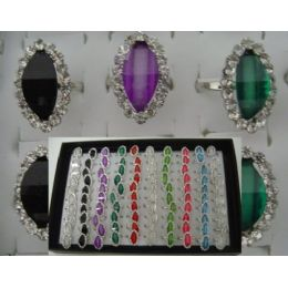 200 of Adjustable RinG-Oval Shaped With 18 Stones