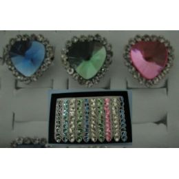 100 of Adjustable RinG-Tear Drop With 19 Stones