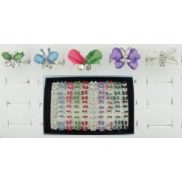 200 of Adjustable RingS-Butterfly Assortment