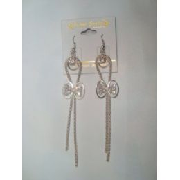 72 of EarringS-Dangle With Bow Tie Charm