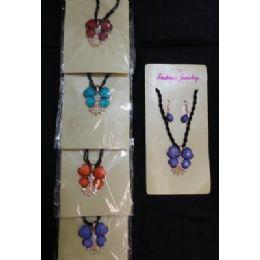 72 of Necklace/earrings SeT-4 Petal Flowers & Rhinestones
