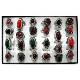 216 of RingS-Red/green/brown Stone
